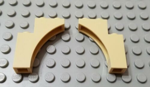 New LEGO Lot of 2 Tan 1x3x3 Creator Arch Brick Pieces