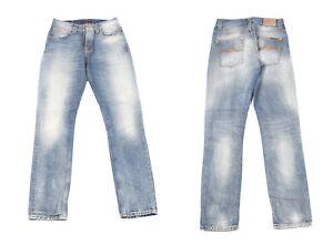 Nudie Grim Tim Cloudy Pale Bleu Jean Hommes Jean W30 L32