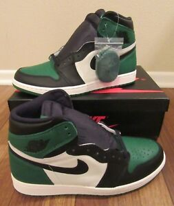 95027f786bca3c Nike Air Jordan 1 Retro High OG Size 11.5 Pine Green Black Sail ...