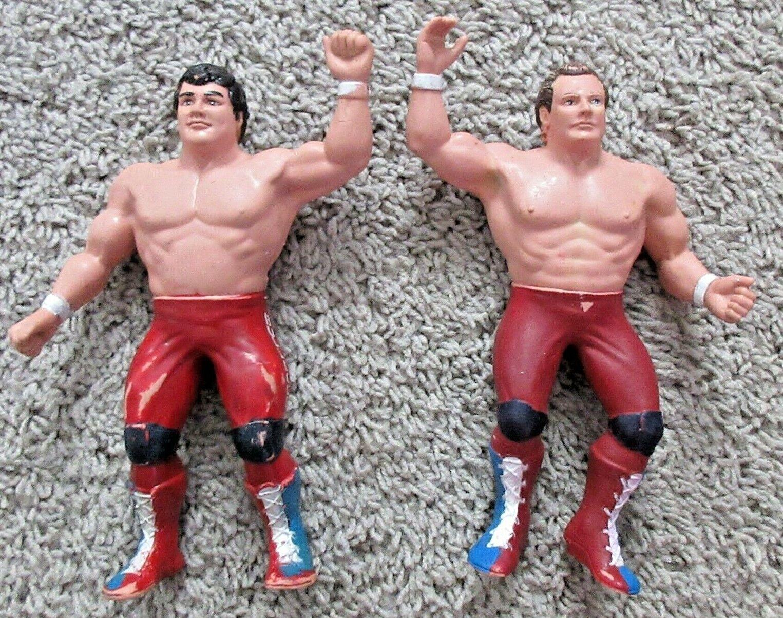 WWF BRITISH BULLDOGS DAVEY BOY SMITH DYNAMITE TAG TEAM LJN RARE RUBBER WWE