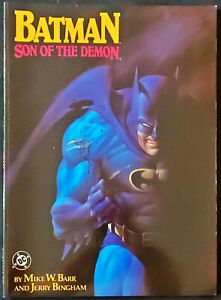 Batman-Son-of-the-Demon-DC-Graphic-Novel-RARE-1987-1st-Print-Ra-039-s-Al-Ghul-Talia