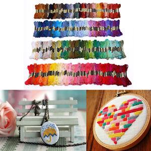 300-Docken-Sticktwist-Stickgarn-8m-6-faedig-Multicolor-farblich-Bunt-Megaset
