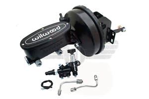 """1960-1966 Chevy Truck 9/"""" Power Brake Booster Conversion Kit Powder Coated Black"""
