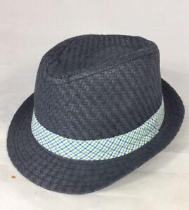 New Joe Fresh Baby Boy Summer Fedora Hat 12- 24 Months Grey Blue ... 6dfbb27d9850