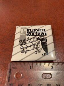 Pelissier Open Street Windsor Ontario Canada Vintage Shopping Pin Button