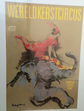 Bayens Hans 72. Wereldkerstcircus Carré Koninklijk theate 1993 Plakat, no frame