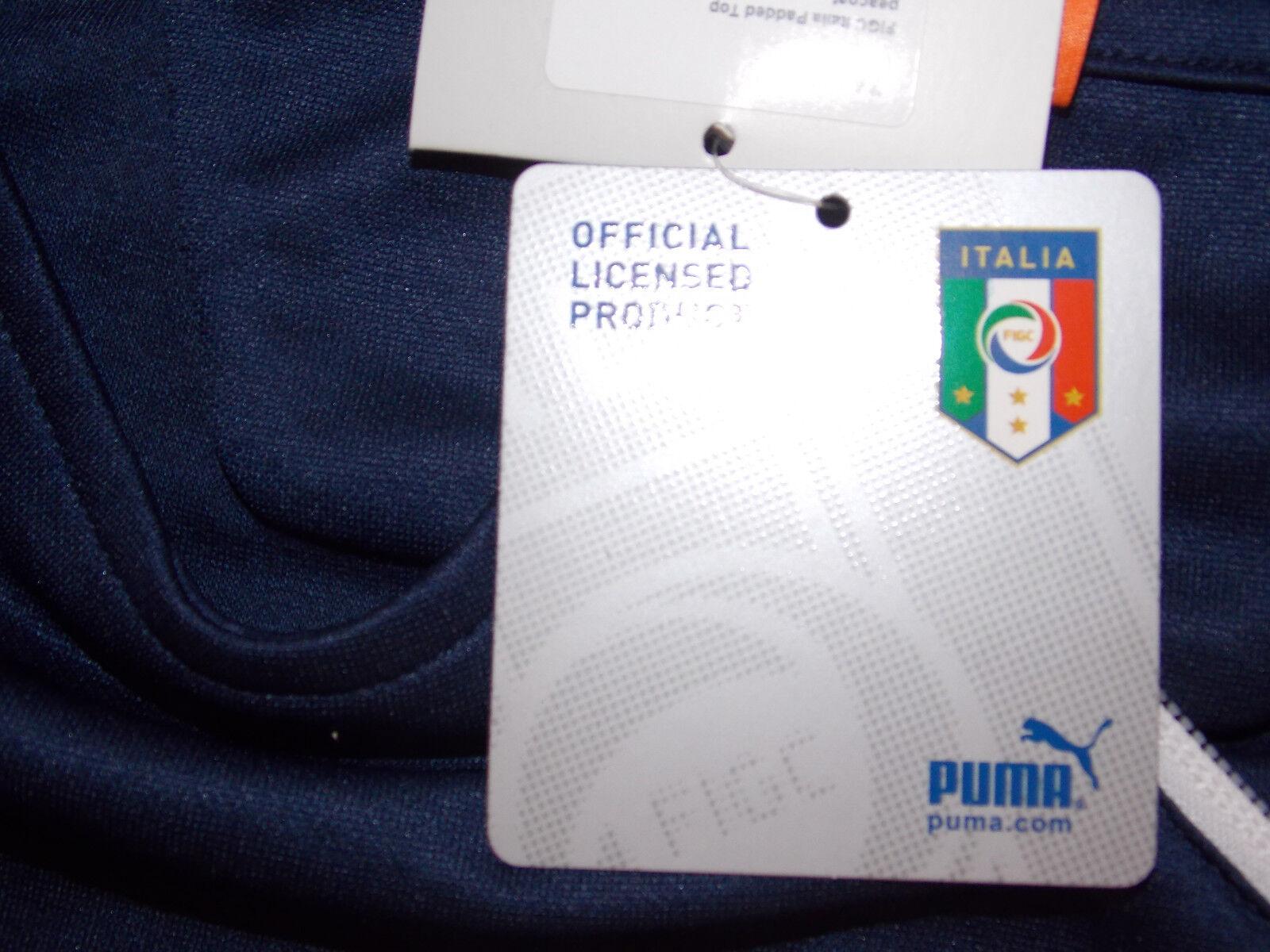 31) FIGC Italia Padded Top Thermoisolierung blauer blauer blauer Puma Sweater Größe XL 9815eb