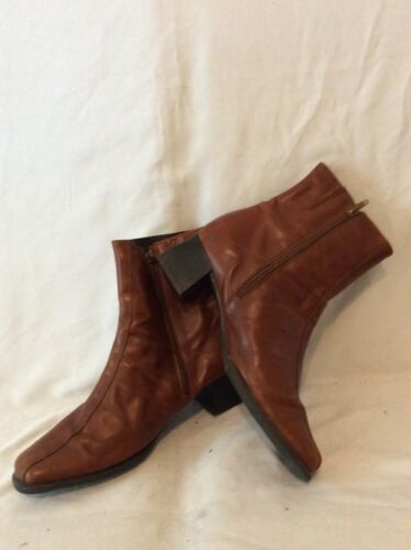 K By Clarks BROWN cheville bottes en cuir taille 6