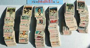 1976-Topps-NHL-Hockey-Set-Lot-x-300-Commons-MARUK-RC-Decent-Vintage-Base-Batch