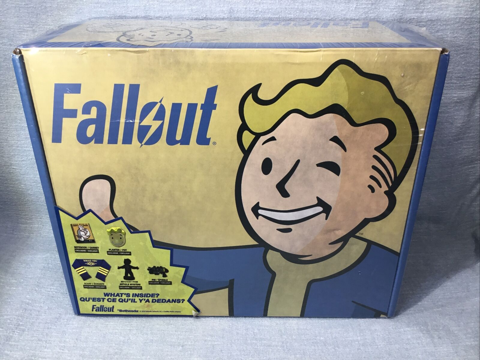 Bethesda Fallout Loot Box Crate - Built by Culturefly - 2018 - Factory Sealed