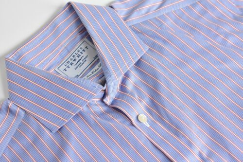 Charles Tyrwhitt Blue w/ Red/White Striped Spread