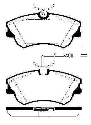 4 pastillas de freno delantero 1.9 2.0 Discos de freno atrás Renault Espace III 2.2