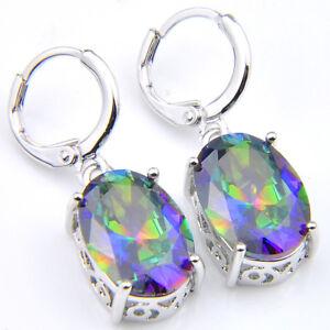 Engagement-Jewelry-Bluish-Rainbow-Mystic-Fire-Topaz-Silver-Dangle-Earrings