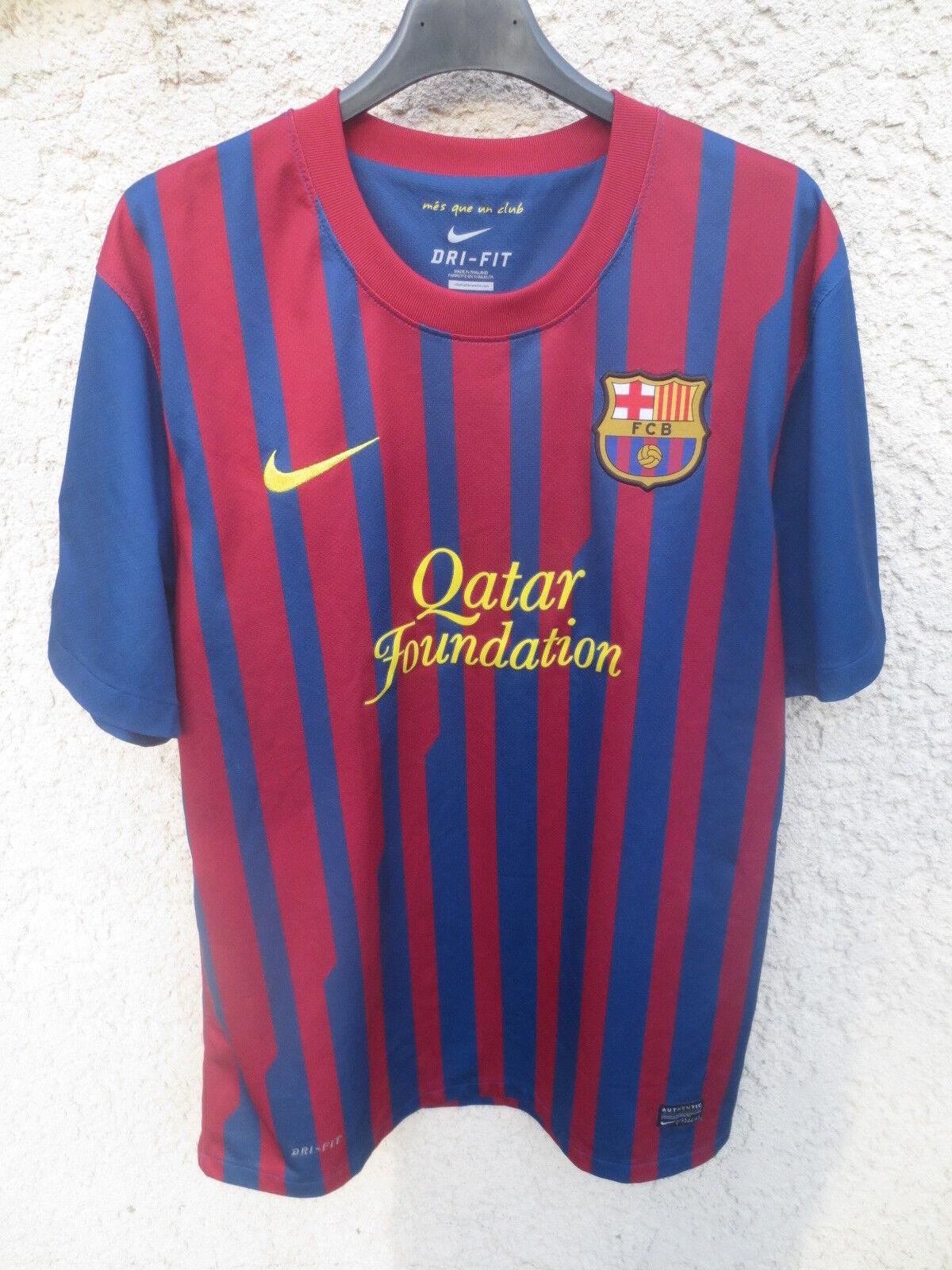 Maillot BARCELONE BARCELONA 2012 camiseta home shirt NIKE Qatar Foundation LFP L