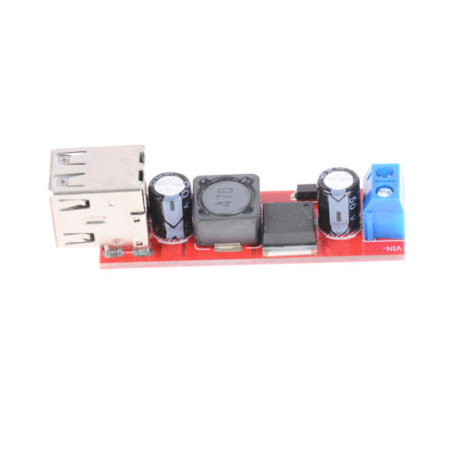DC 6V-40V To 5V 3A Double USB Charge DC-DC Step-down Converter Module UK