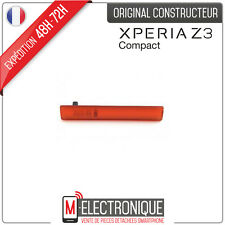 Couvercle cache latéral USB / Micro SD Orange Original Sony Xperia Z3 Compact