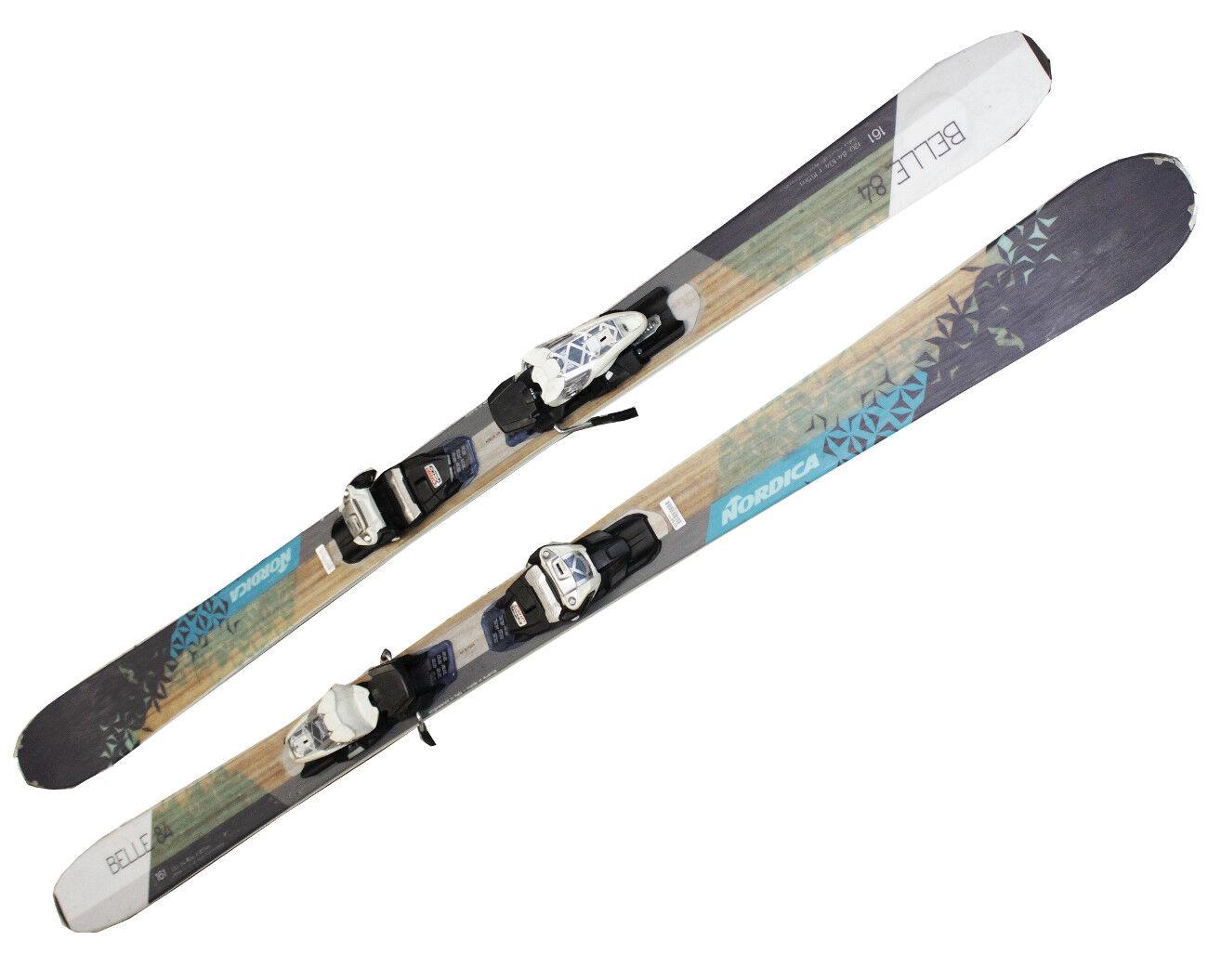 åka skidor Nordica Belle 84 tescki 169 161 cm kvinnoråka skidor 16 17 Marker Leads X17