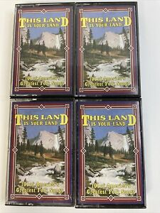 american folk music vintage cassette tapes campfire songs lot of 4