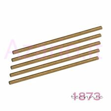 Barrette 5 pz ottone forate ø 2,00 - 0,55 mm orologiaio Brass hollow wire tools