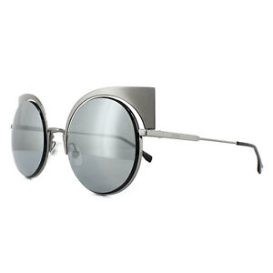 51521ac6698 Fendi Sunglasses Eyeshine FF 0177 S KJ1 T4 Dark Ruthenium Silver ...