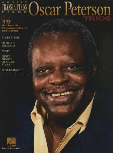 Oscar Peterson Trios Piano Transcriptions Sheet Music Book Blues Etude Misty