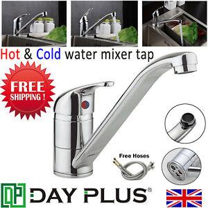 Modern-Chrome-Kitchen-Sink-Taps-Mono-Basin-Single-Lever-Long-Neck-Spout-Mixer