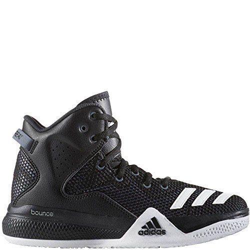 Adidas Performance Men DT Bball Mid Basketball Shoe, Black/White/Dark Shale #BR
