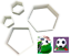 Hexagon-amp-Pentagon-Cookie-Cutters-Shape-Football-Biscuit-Pastry-Cake-Bake-4-Pcs thumbnail 3