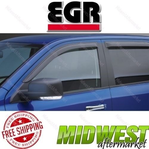 EGR Dark Smoke Front SlimLine In Channel Window Visor For 1995-04 Toyota Tacoma