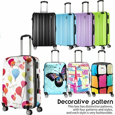 London Style ABS Cabin Size Hard Case 4Wheel Suitcases Travel Luggage
