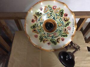 Lampadario Ceramica Di Caltagirone.Lampadario In Ceramica Di Caltagirone Ebay