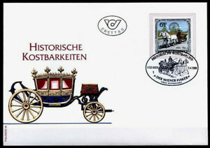 Historique Des Objets Précieux. Flaker. Fdc. Autriche 1998-afficher Le Titre D'origine Soyez Astucieux Dans Les Questions D'Argent