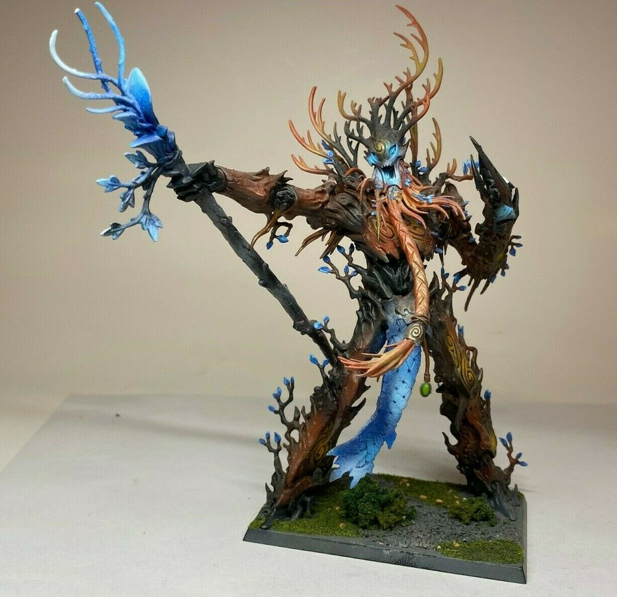 EWarhammer Wood Elf Sylvaneth AOS - Treelord Ancient - Painted VERY well