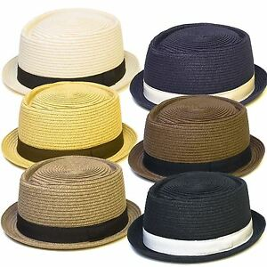 Straw Look Pork Pie Hat  a7fccbdd0db