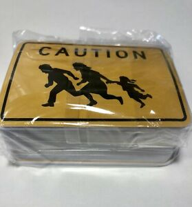 """Details about 100 Pack Illegal Alien Caution Sign Stickers Border Patrol  Moral Police 3x2"""""""