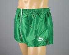Puma Glanz Nylon Shorts!!!  Vintage Short Sporthose Grün-Gr.:L-7         (1326)