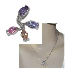 Pendentif-en-argent-massif-925-zirconium-multicolore-bijou