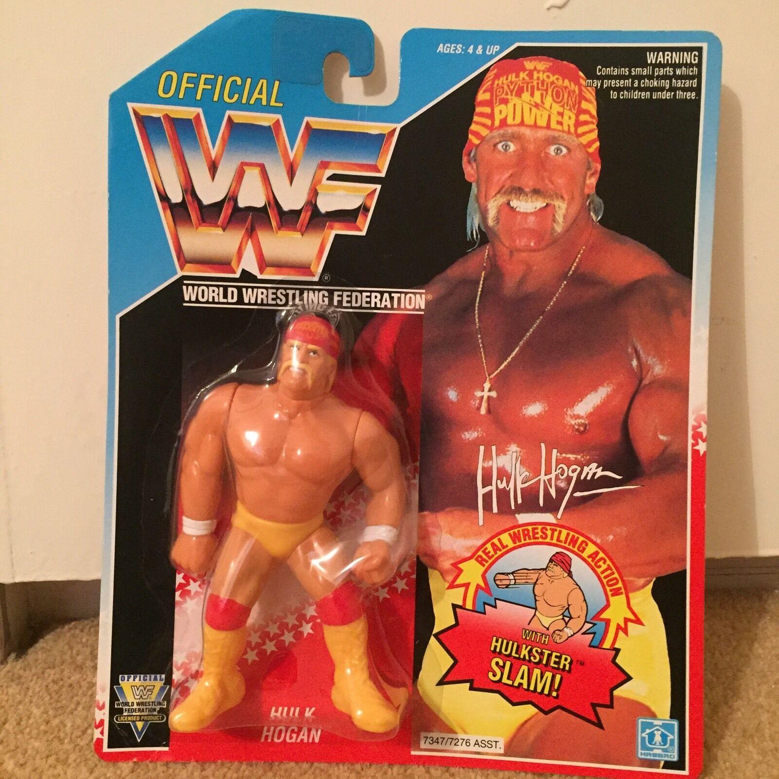 WWF Hasbro 1992 Hulk Hogan figura Hulkster Slam Nuevo Y En Caja