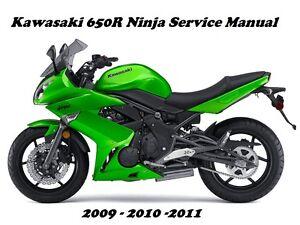 kawasaki 650r ninja ex 650 er6f maintenance service repair manual rh ebay com Kawasaki ER-6f 2012 ER-6f 2017