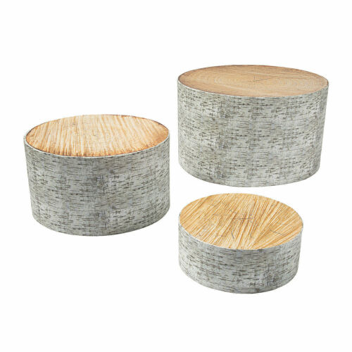 3 Pieces Woodland Party Tree Stump Treat Stands Party Supplies