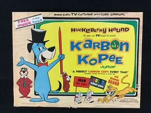 VINTAGE-1959-HUCKLEBERRY-HOUND-KARBON-KOPEE-JUNIOR-DRAWING-KIT-H-B-ENTERPRISES