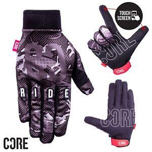 Core-Touch-Screen-Guanti-Ciclismo-BMX-Bicicletta-MTB-Motocross-Nero-Camo