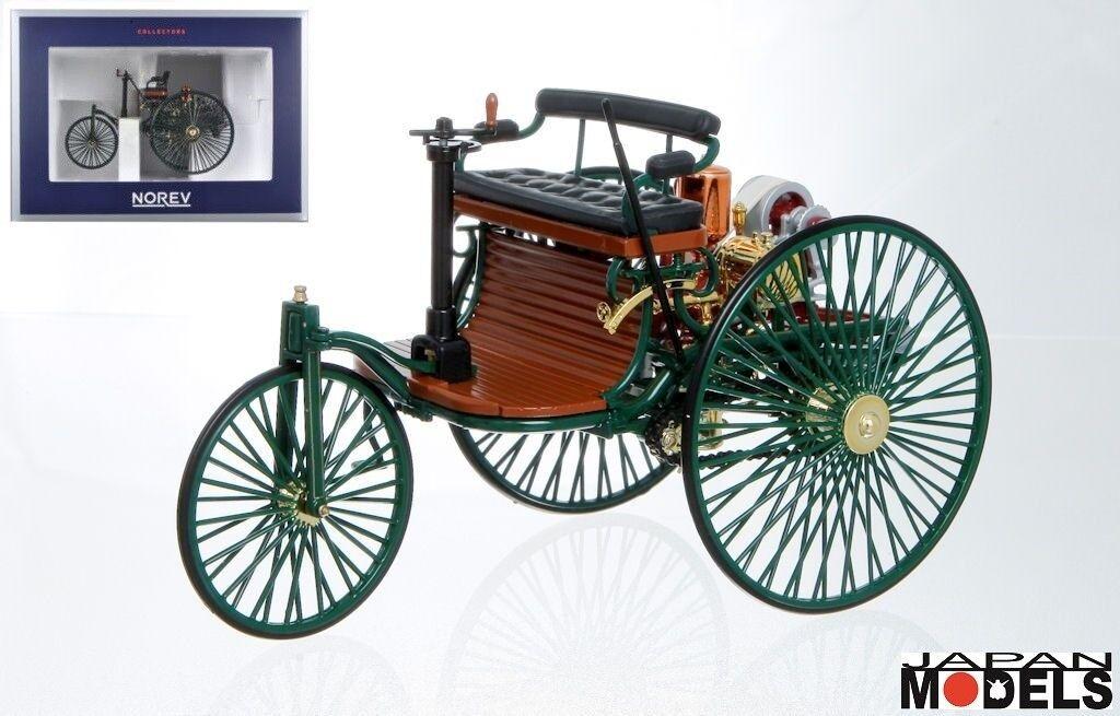 BENZ PATENT MOTORWAGEN 1886 1886 1886 Velocipede verde verde Norev 183701 Die Cast 1 18 47cd27
