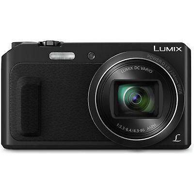 Panasonic TZ57 3 Inch LCD 16MP 20X Zoom WiFi Compact Digital Camera - Black