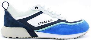 Cesare P. by Paciotti Art.PETOVV1515MRNB33 - Sneaker Uomo - Bluette/Bianca