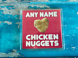 I-love-Chicken-Nuggets-Pink-Personalised-Coaster-Drink-Coaster-Tableware
