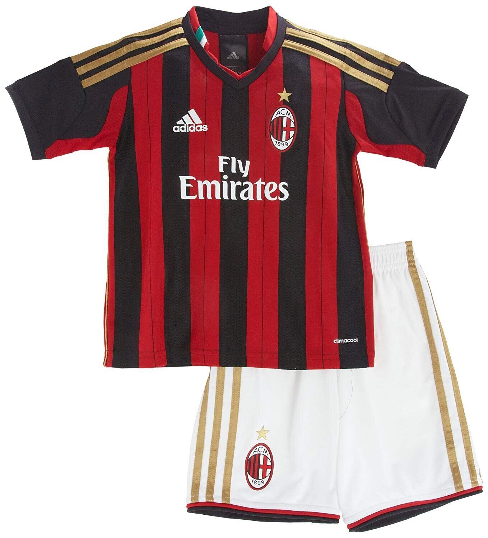Adidas Kinder AC Mailand Home Minikit , Gr. 98 , , , Neu f8898c