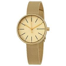 Skagen Signature Gold-tone Dial Ladies Mesh Watch SKW2614