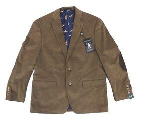 Lauren By Ralph Lauren Mens Sport Coat Brown Size 42 Short Corduroy $295 #018