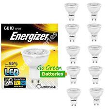 10x Energizer GU10 5.7 Watt LED Spotlight. 345 Lumens. Equivalent - 50W Dimmable
